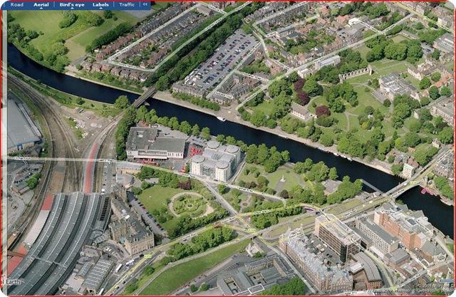 Birds eye view of York